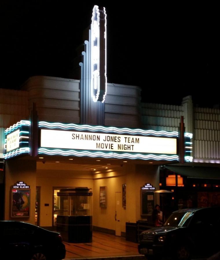 The Shannon Jones Team movie night