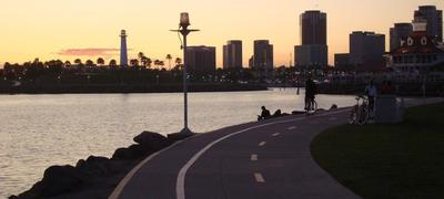 Biking in Long Beach