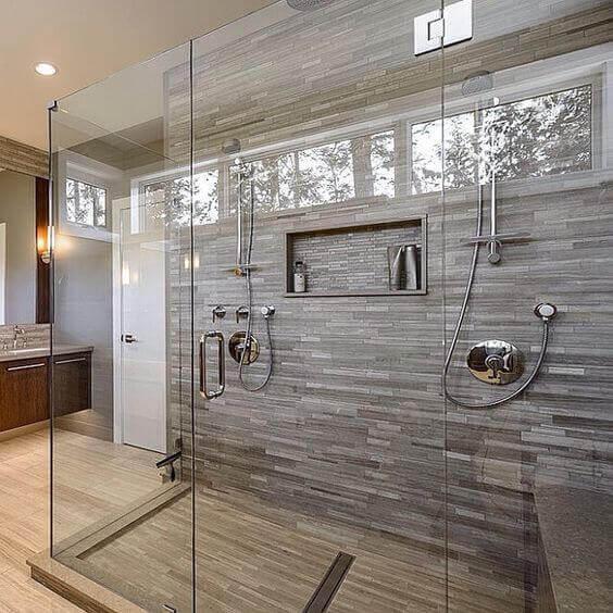 Superbe Large Walk In Shower With Porcelain Tile 1