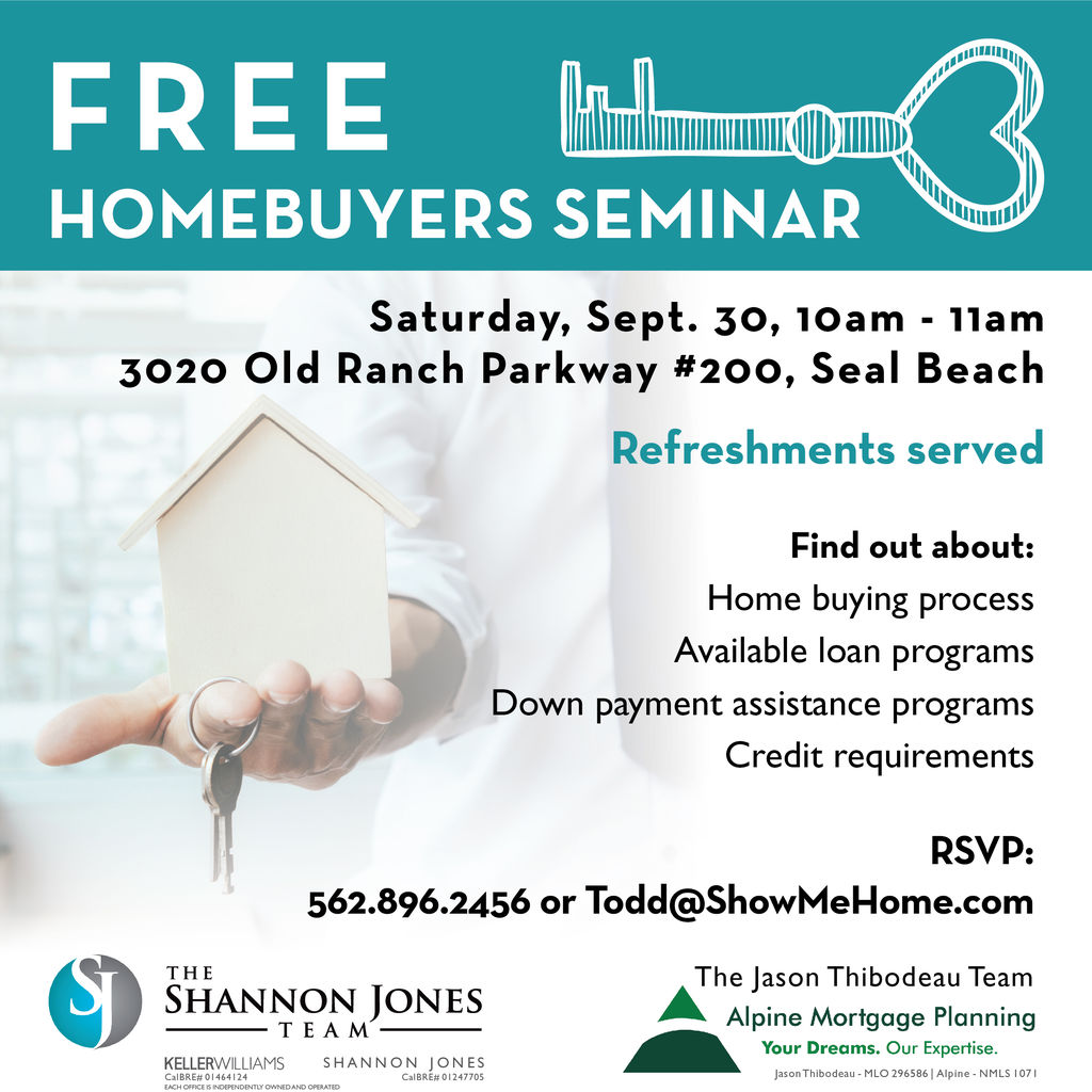 Join Us For A Free Homebuyers Seminar