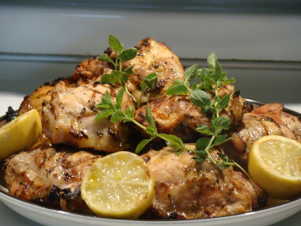 Grilled Greek Chicken with Fresh Greek Oregano