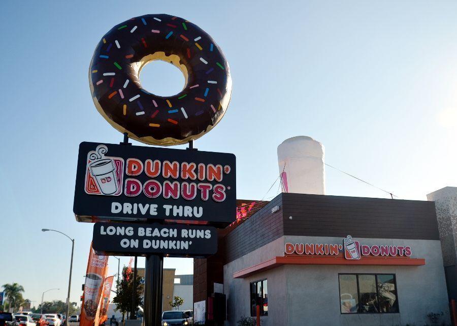 dunkin donut sign