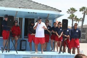 Pat Flynn Welcoming Long Beach Junior Lifeguards 2015