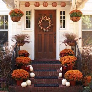 raffia - earth tones - adding curb appeal