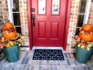 red door can add curb appeal
