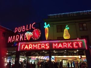 Pike's Place is one of the most recognizable food halls, filled with vendors for food as well as artisan goods.