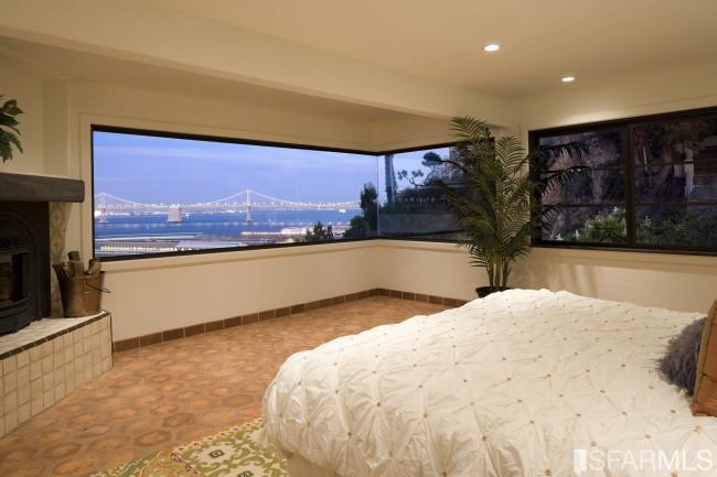 Master bed with view