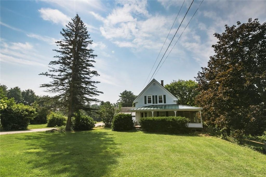 New listing: this New England farmhouse sits on 4.2 beautiful acres of fields and mature trees.