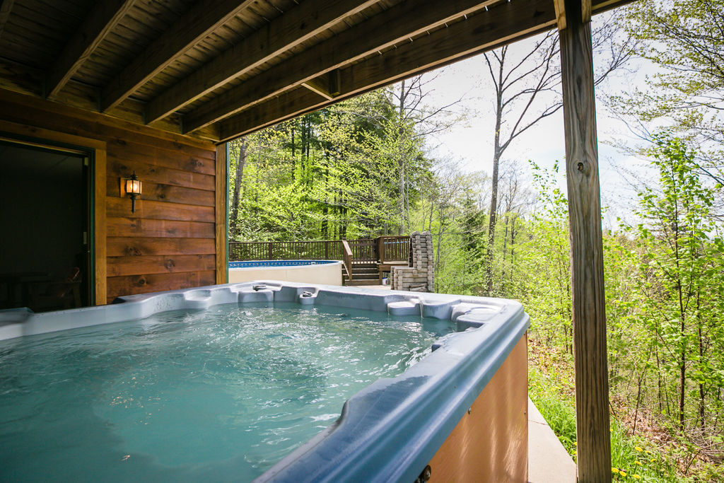 Spa with a view at 41 Mount Will Drive
