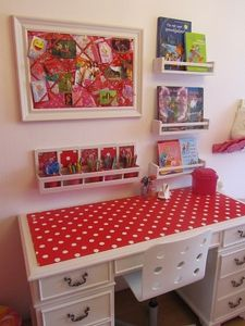 red-polka-dot-desk