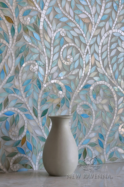 Climbing Vine Iridescent Tile - New Ravenna