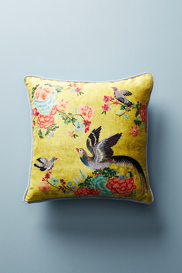 Embellished Birds Pillow - Anthropologie
