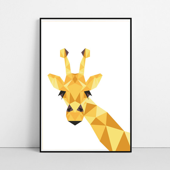 Geometric Giraffe - BeguimaStudio