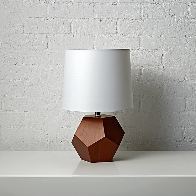 Geometric Wood Lamp - Land of Nod