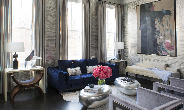 Metallic Wallpaper - Wendy Labrum Interiors