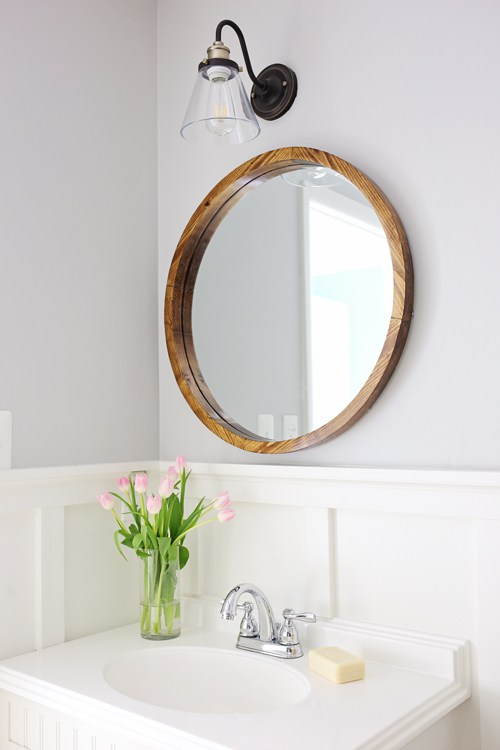 Round Wood Mirror - Angela Marie Made