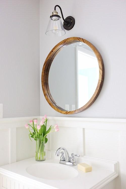 Round Wood Mirror - Angela Marie Made