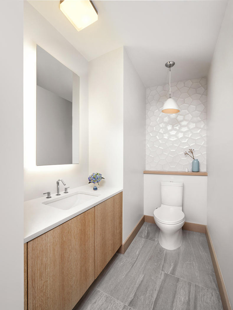 Sagemodern - White Geometric Tiles
