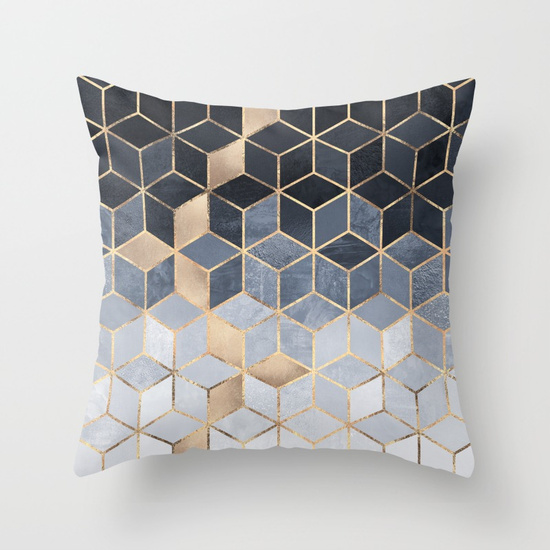 Soft Blue Gradient Cubes - Elisabeth Fredrikkson on Society 6