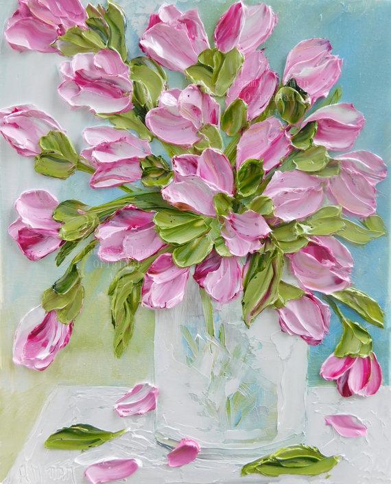 Tulip Oil Painting - Kenzie's Cottage