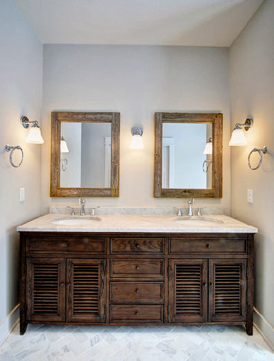 Wood Double Sink Vanity Mirror Set - Country by the Bumpkins