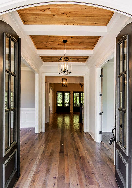 Wood Paneling Ceiling Entrance - Vintage South