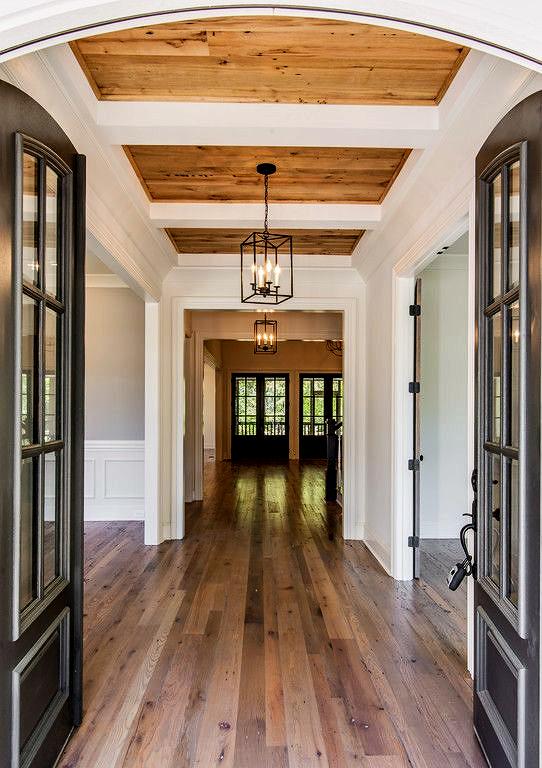 Wood Paneling Ceiling Entrance - Vintage South