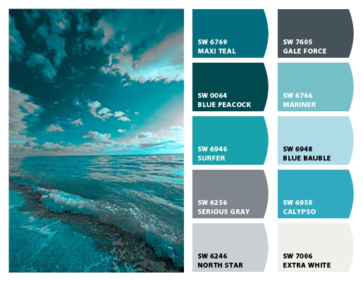 15 Color Palettes Inspired By The Ocean The Cameron Team