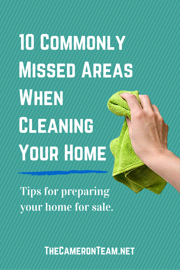 10 Commonly Missed Areas When Cleaning Your Home