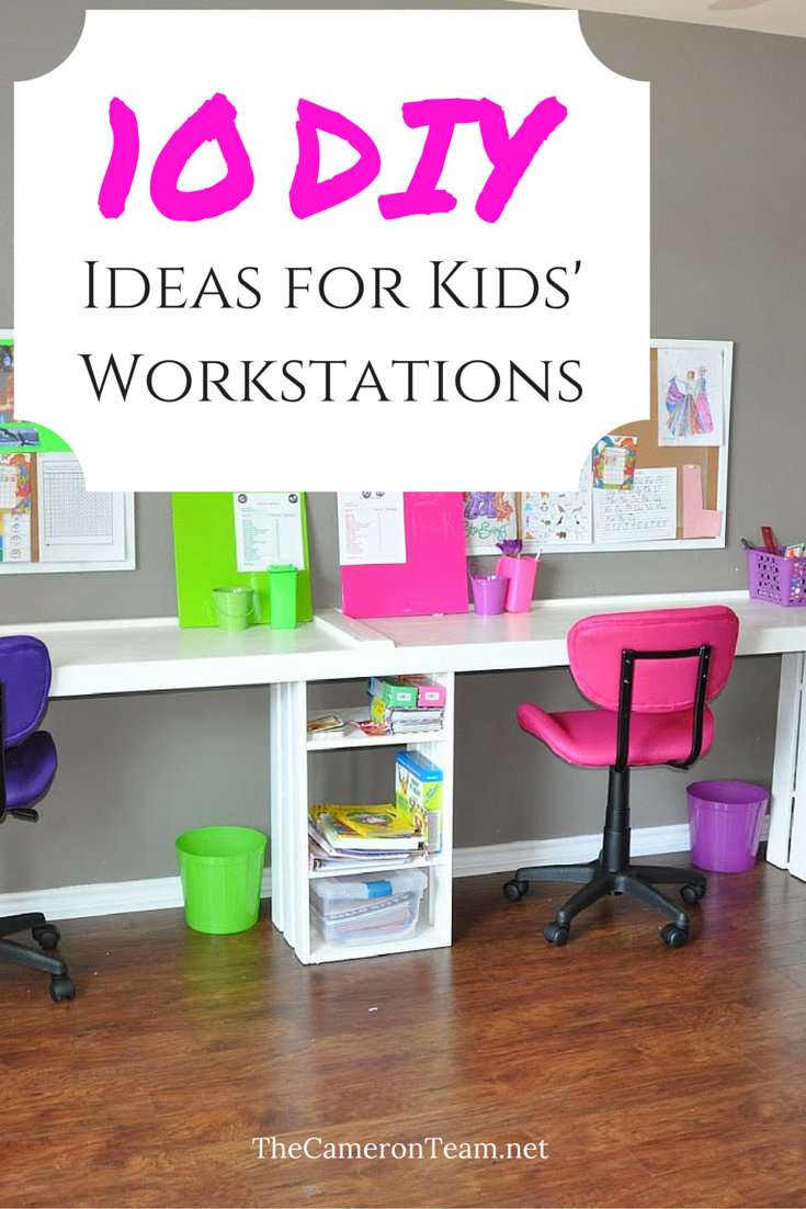 10 DIY Ideas for Kids Workstations