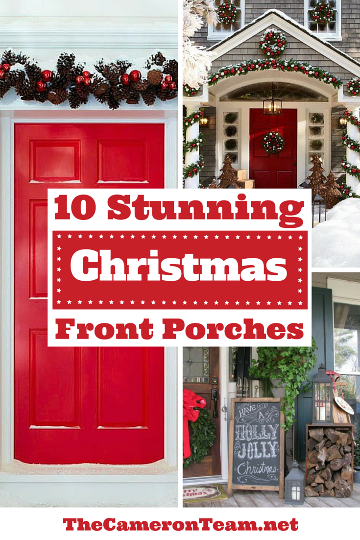 10 Stunning Christmas Front Porches