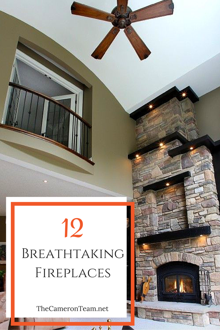 12 Breathtaking Fireplaces