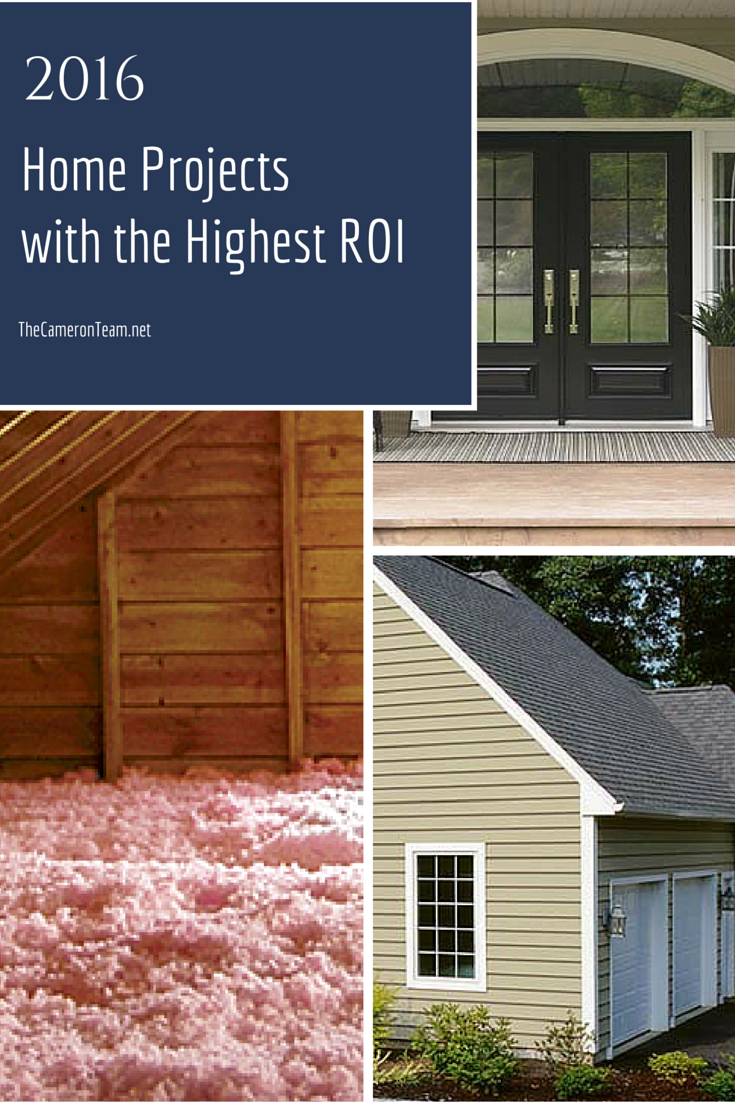 2016 Home Projects with the Highest ROI