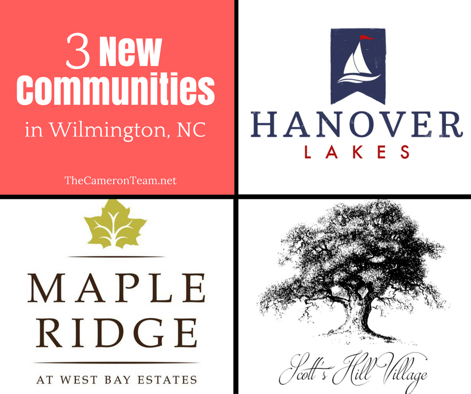 3 New Communities in Wilmington NC