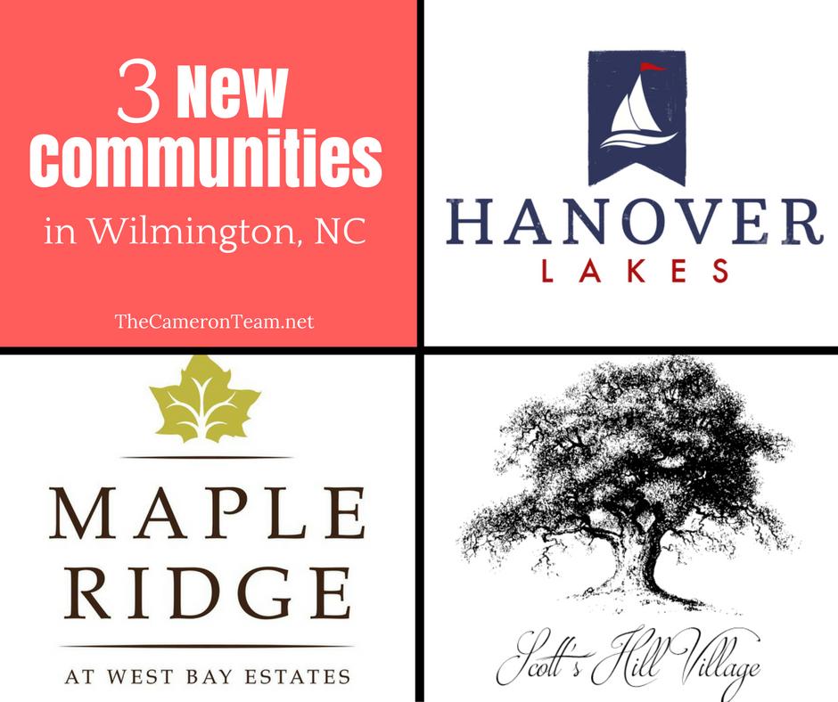 3 New Communities in Wilmington NC