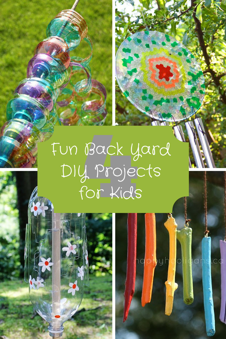 4 Fun Back Yard DIY Projects for Kids