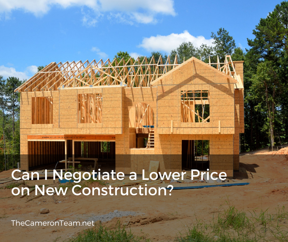 Can I Negotiate a Lower Price on New Construction