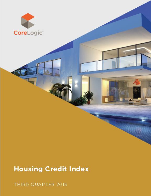 CoreLogic Housing Credit Index Q3 2016 Report