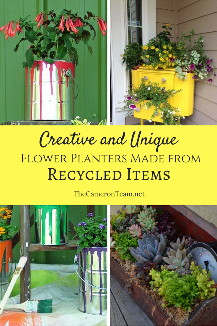 Creative and Unique Flower Planters Made From Recycled Items