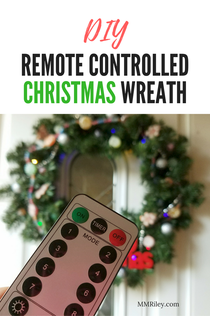 DIY Remote Controlled Christmas Wreath