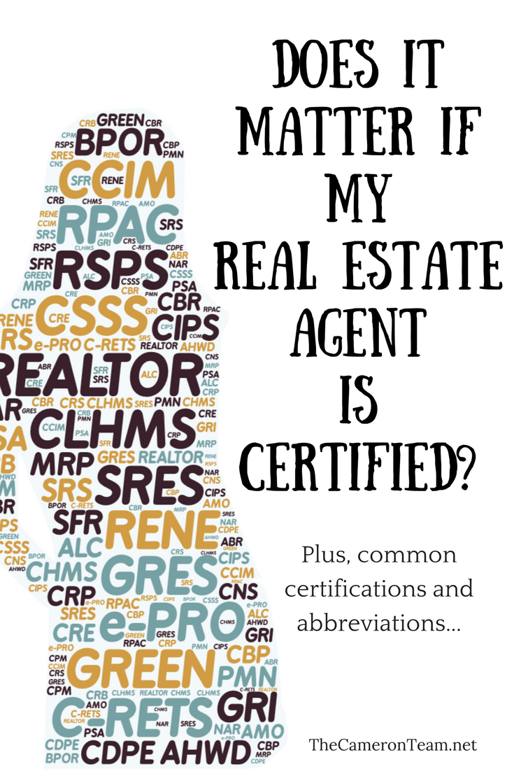 Does it Matter if My Real Estate Agent is Certified