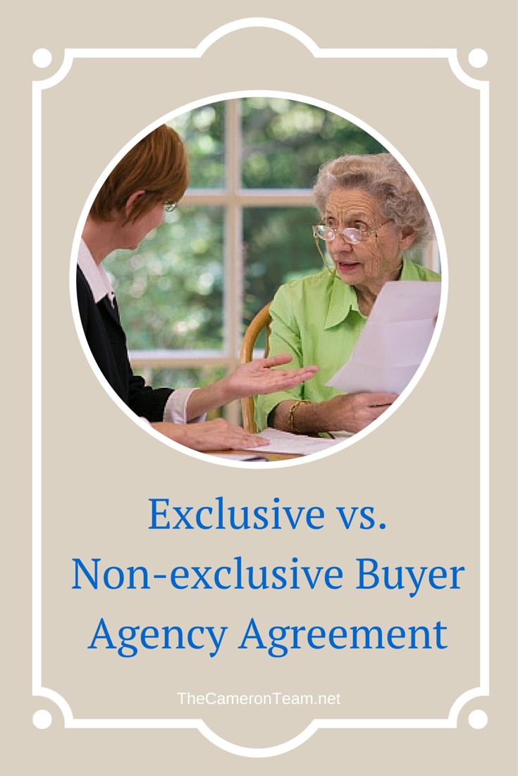 Exclusive vs. Non-exclusive Buyer Agency