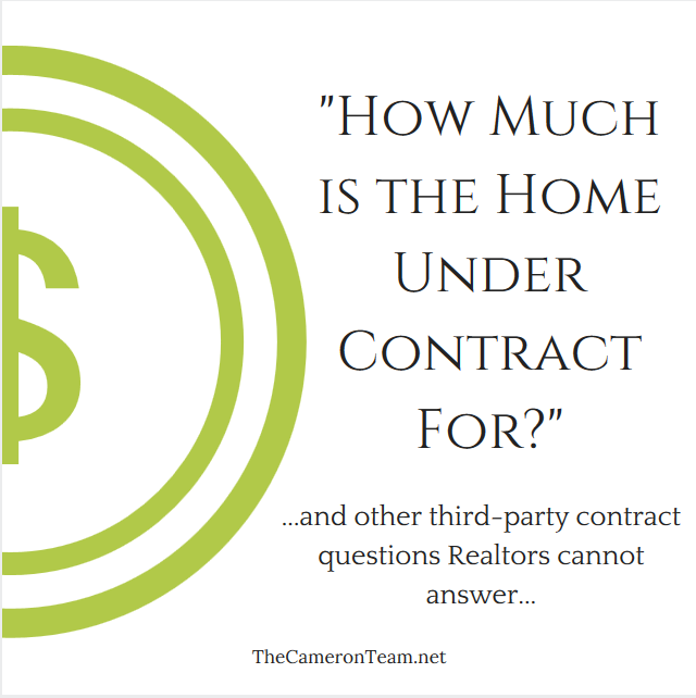 How Much is the Home Under Contract For