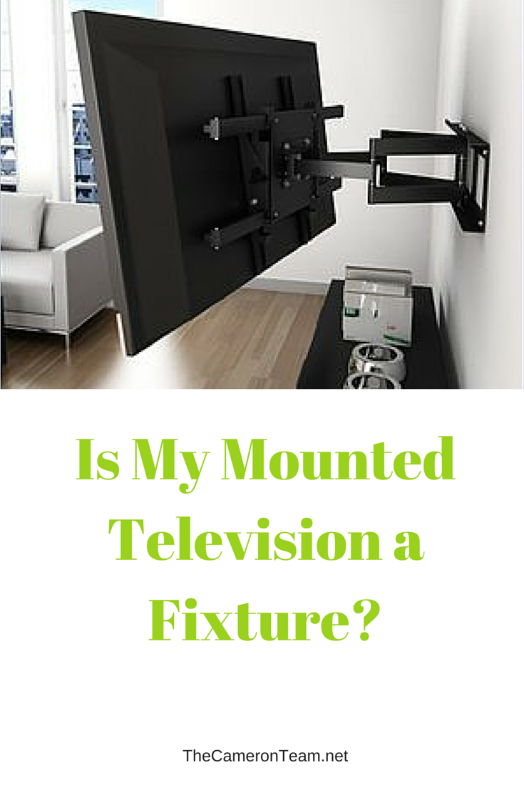 Is My Mounted Television a Fixture