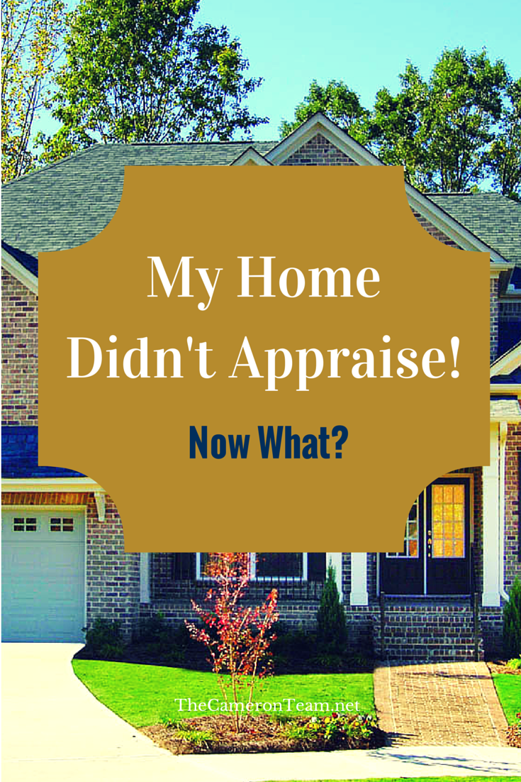 My Home Didn't Appraise