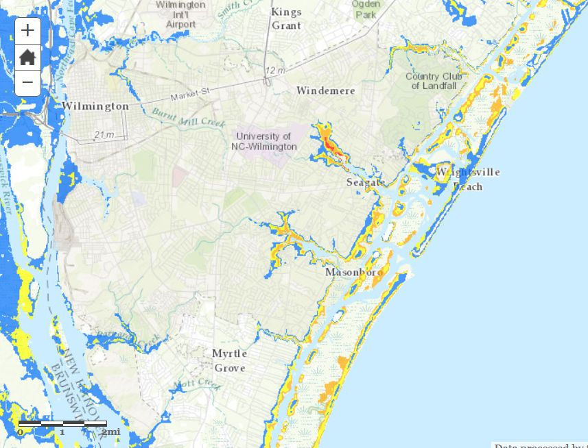 National Hurricane Center Storm Surge Map