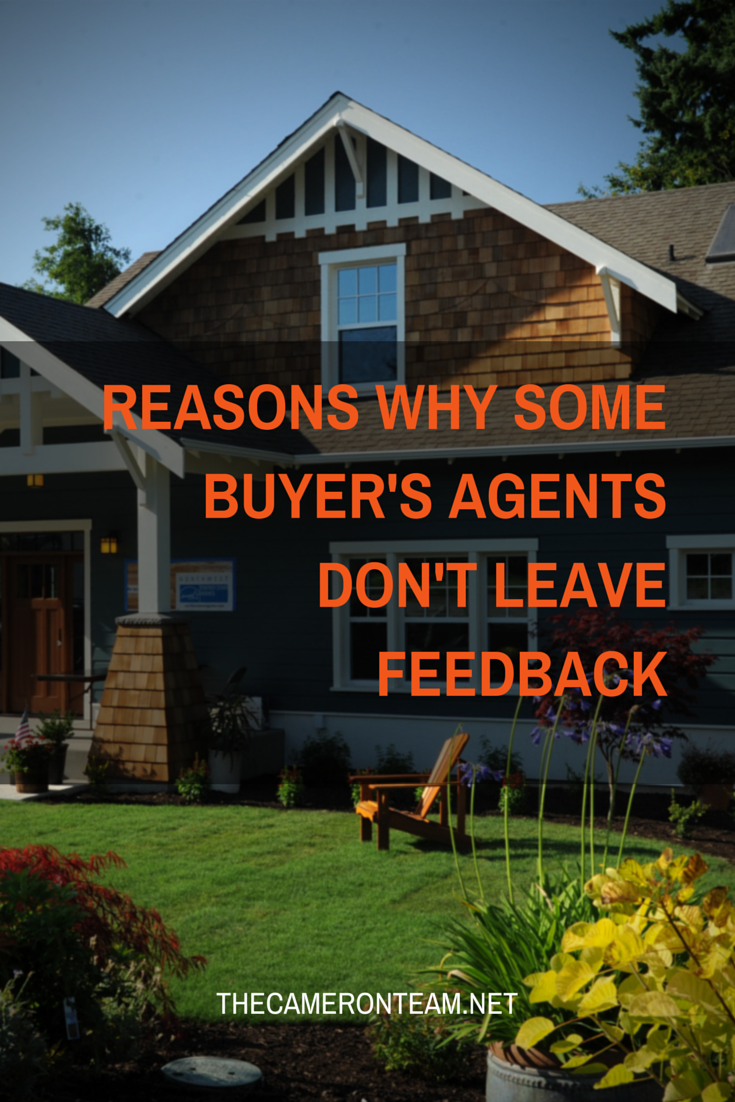 Reasons Why Some Buyer's Agents Don't Leave Feedback
