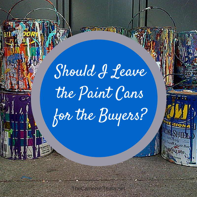 Should I Leave the Paint Cans for the Buyers