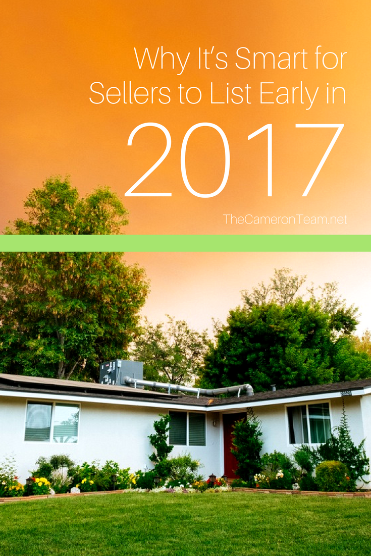 Why It's Smart for Sellers to List Early in 2017
