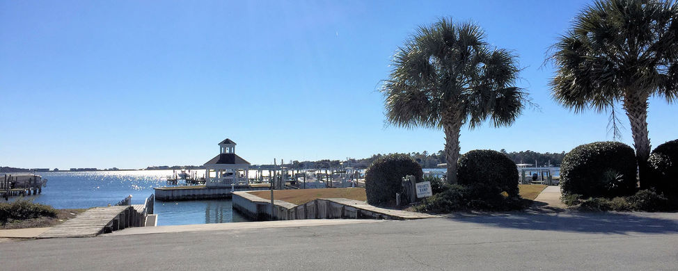 Boat Ramp in Bayshore Marina in Sneads Ferry NC